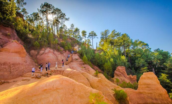 Coucher de soleil - Colorado Provençal