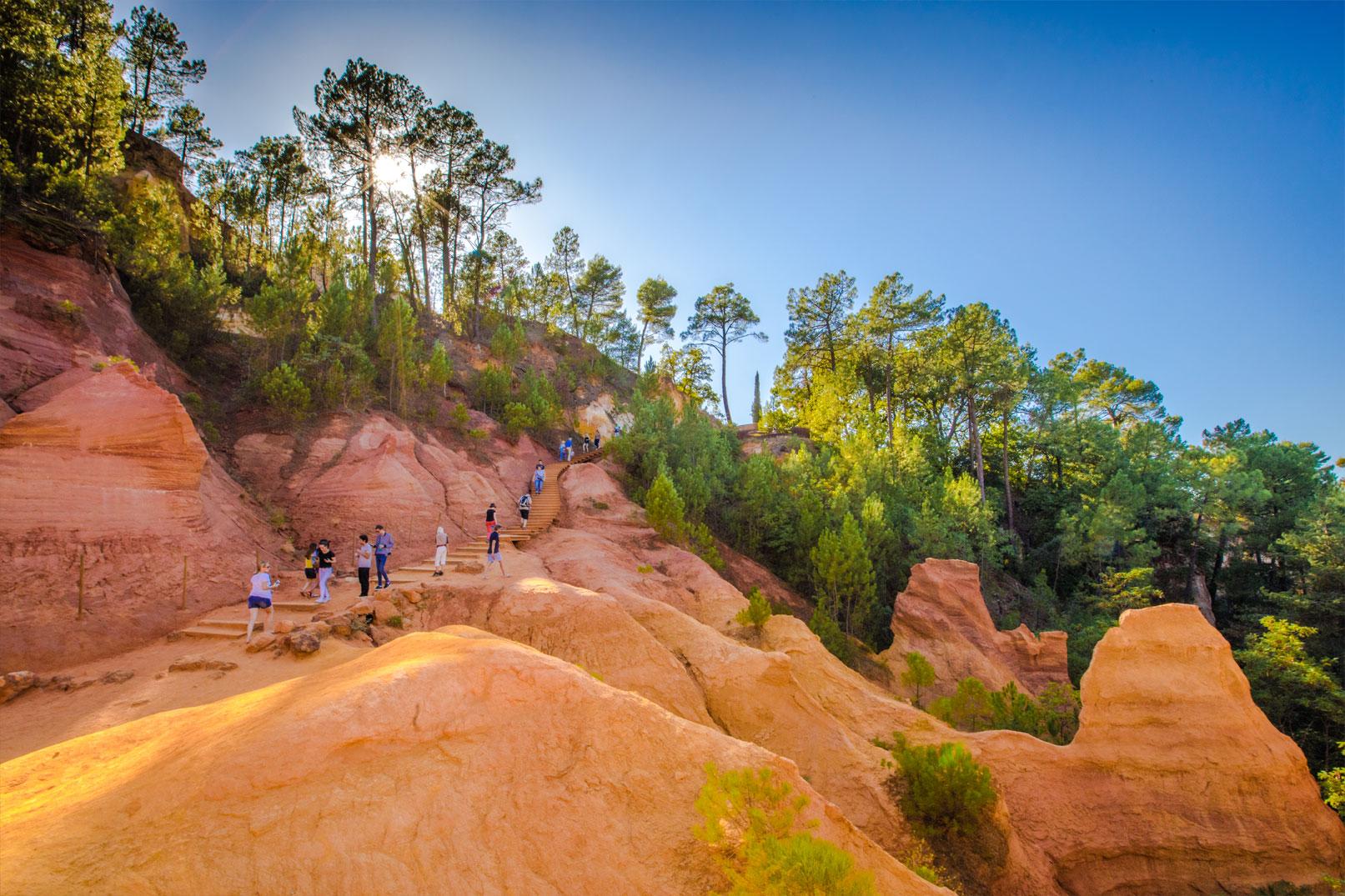Coucher de soleil – Colorado Provençal