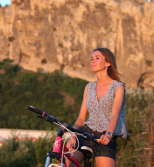 Pause sur la via Rhôna à vélo