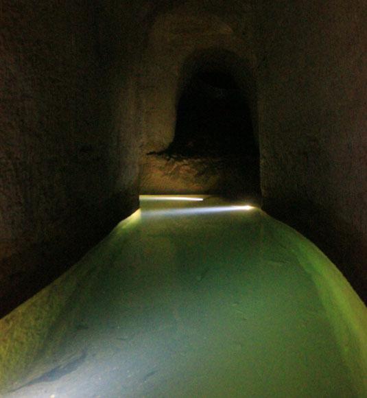L'eau dans les mines de Bruoux @ Hocquel
