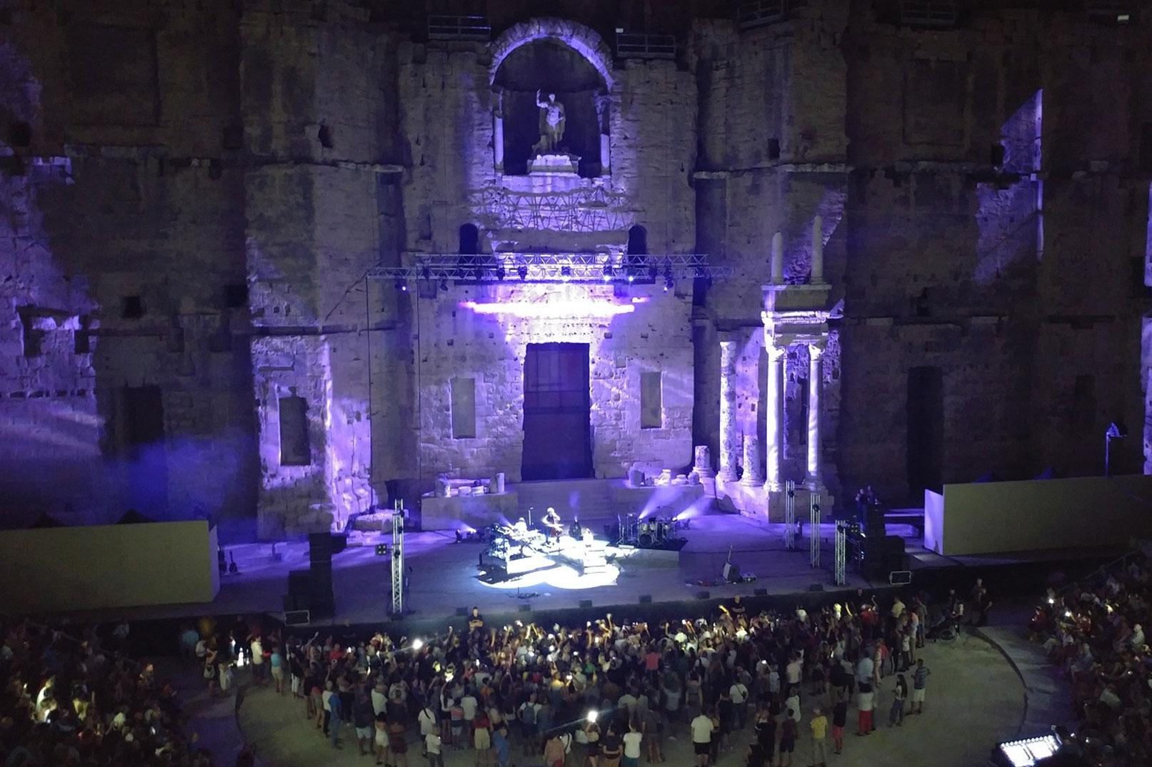 Théâtre antique de nuit @ Abry