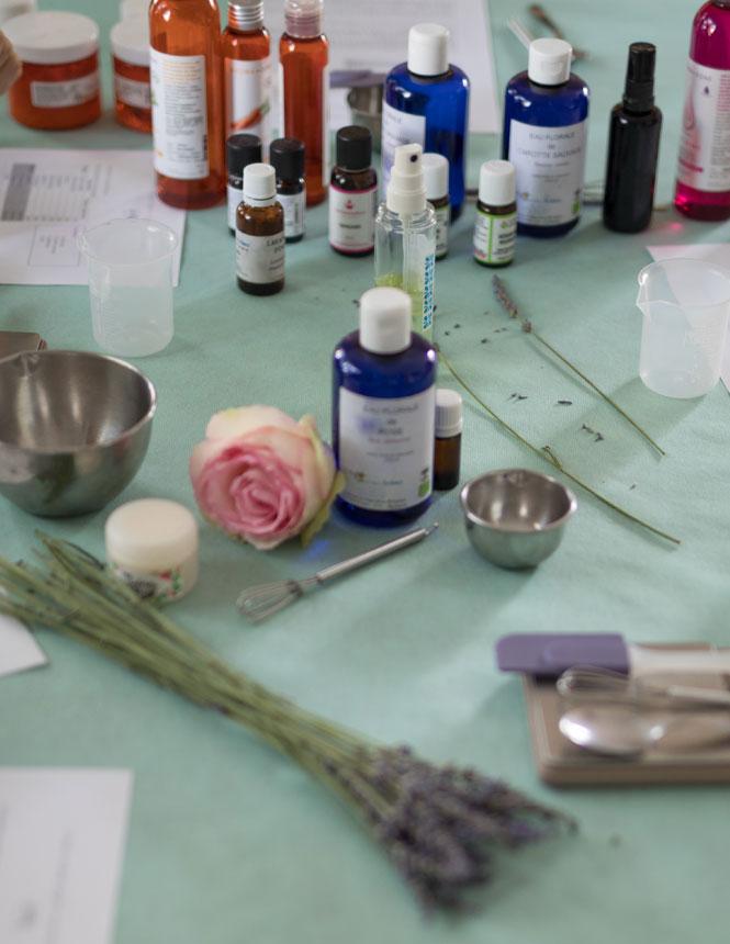 ustensiles pour l'atelier cosmétique en Vaucluse