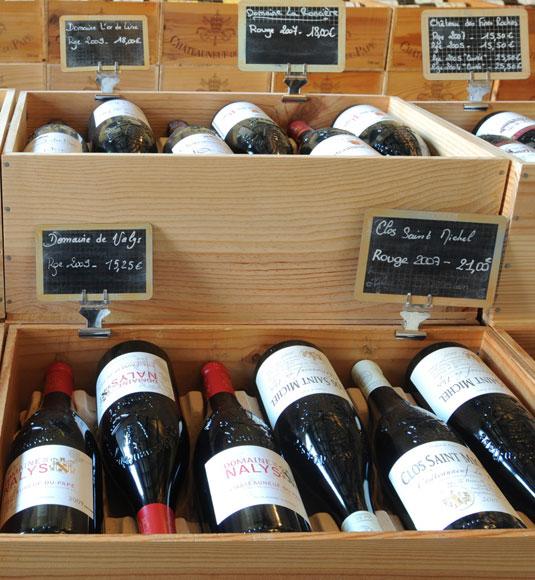 coffret de vin AOC Côtes du Rhône