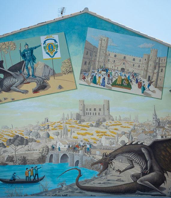 Fresque du Drac à Mondragon