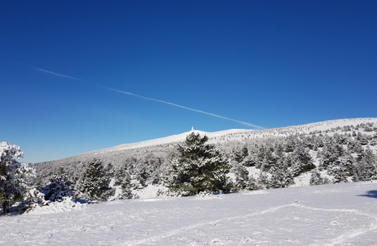 Neige au mont Serein