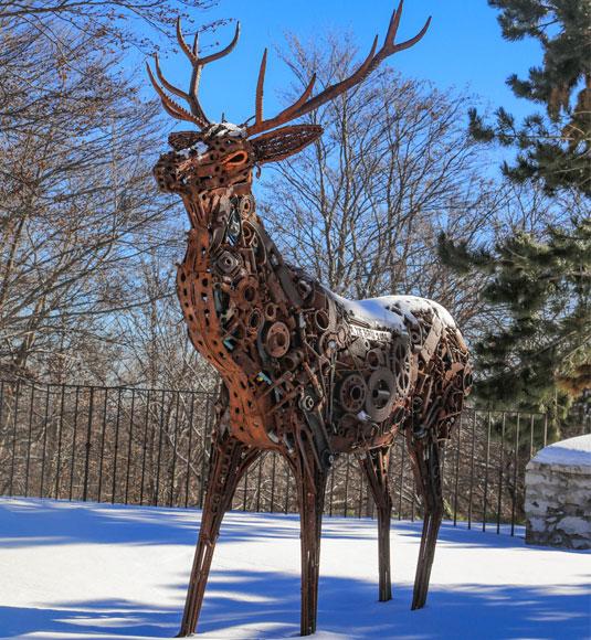Sculpture cerf au Ventoux