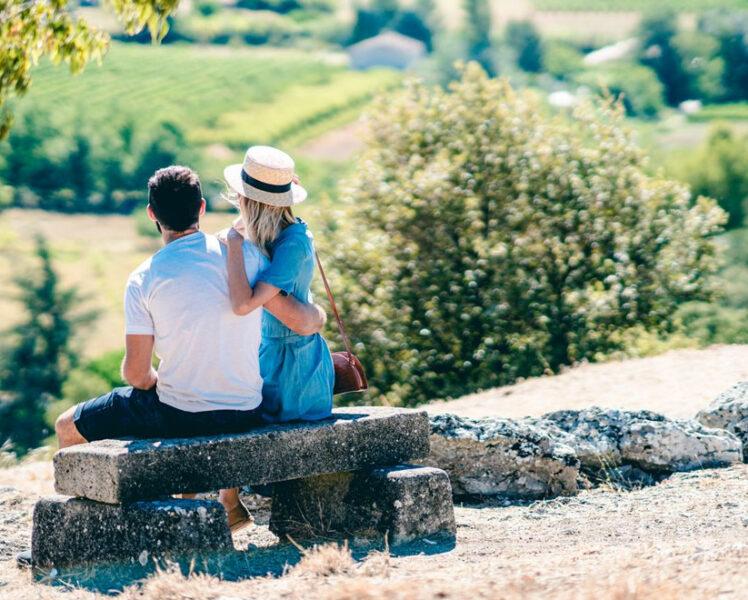 Couple à Entrechaux © O'Brien