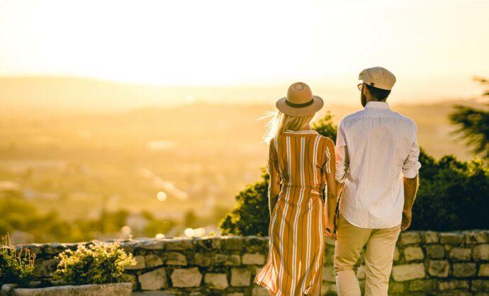 Coucher de soleil en Vaucluse