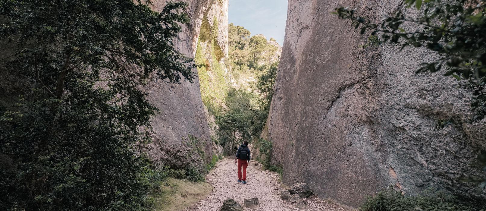 Randonnée à la fraîche dans les gorges du Régalon