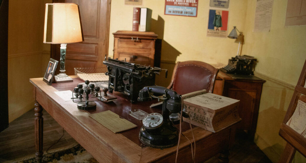 Bureau de la résistance au musée d'Histoire Jean Garcin