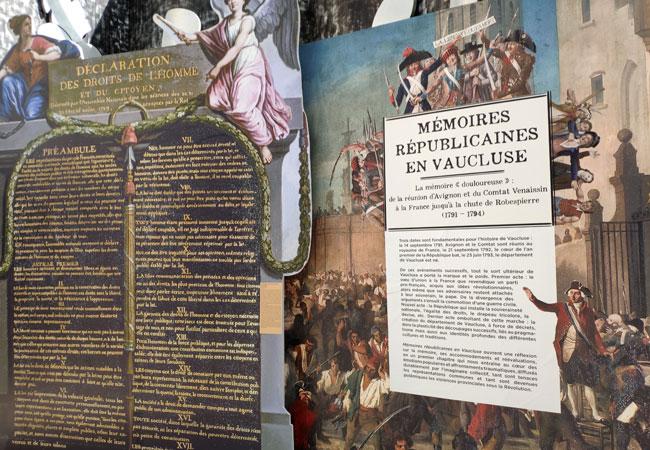 Affichage au musée de la résistance