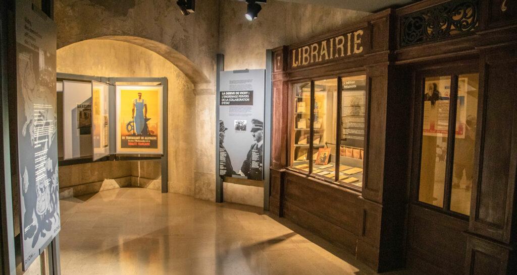 Librairie de la résistance au musée d'Histoire Jean Garcin
