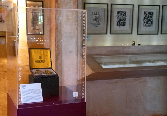 Vitrine au musée-bibliotheque Pétrarque