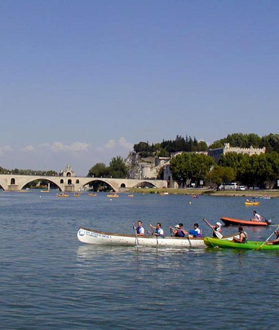 Canoë sur le Rhône à Avignon